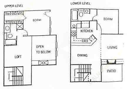 1,167 sq. ft. floor plan