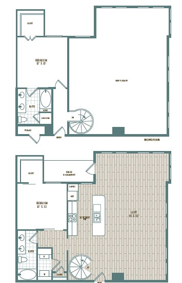 1,597 sq. ft. to 1,624 sq. ft. Toscana floor plan