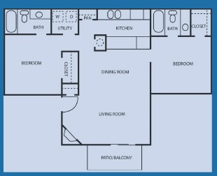 936 sq. ft. 50% floor plan