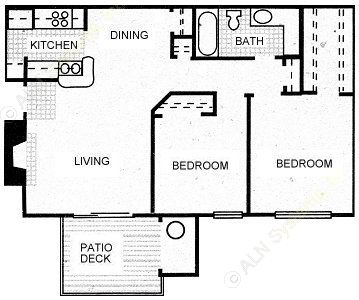 788 sq. ft. COWBOY floor plan