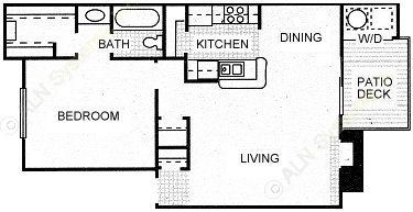 728 sq. ft. STAMPEDE floor plan