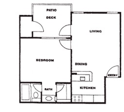 535 sq. ft. G floor plan
