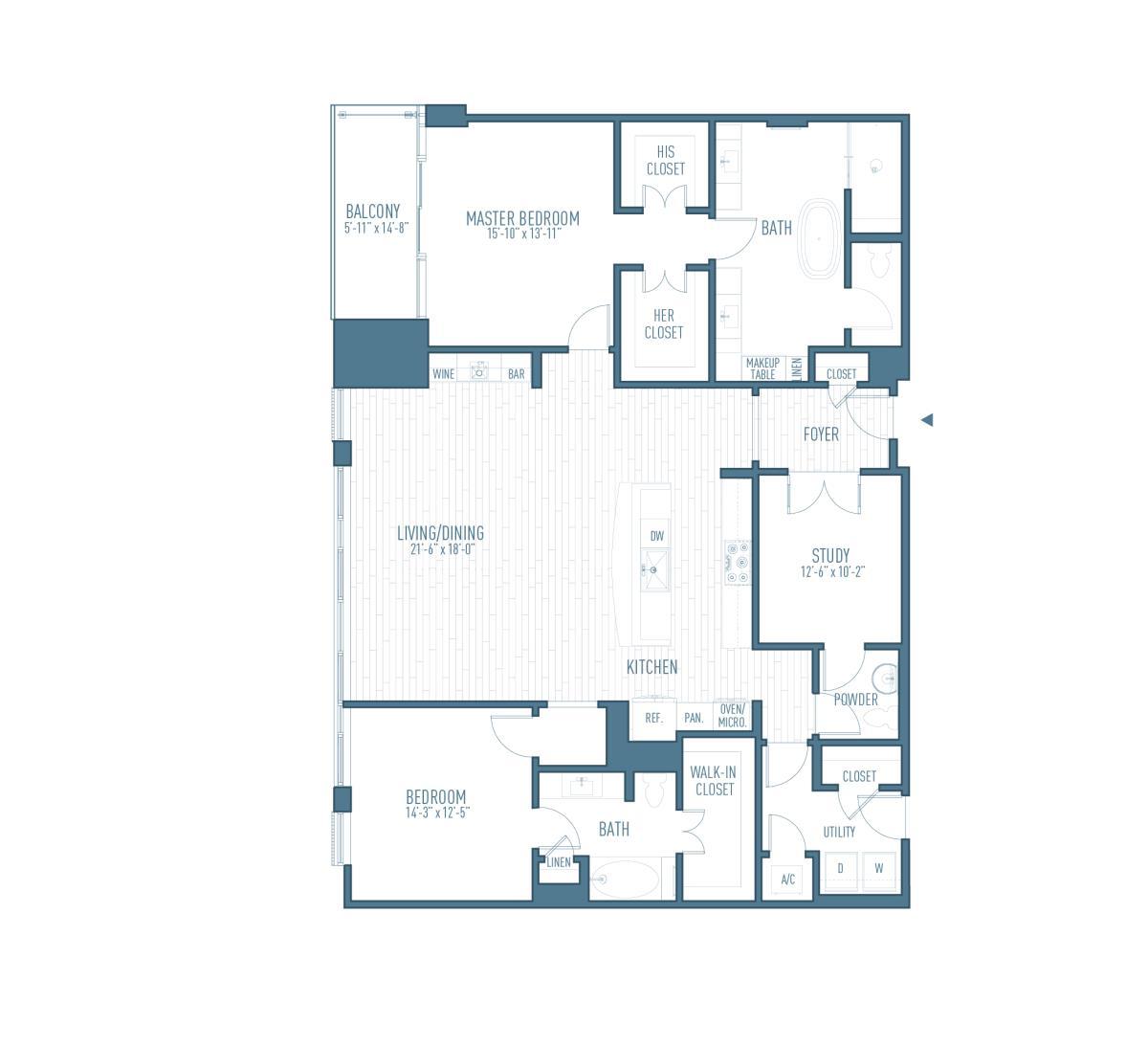 2,034 sq. ft. P4 floor plan