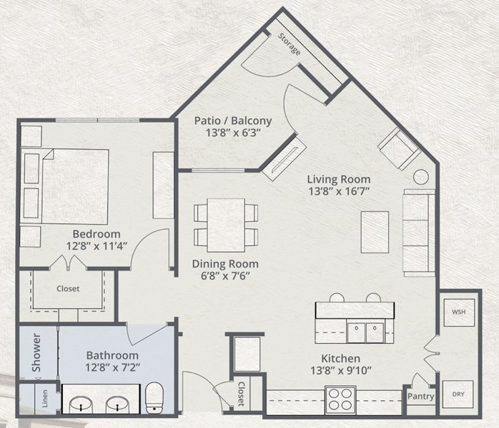 862 sq. ft. Frontier floor plan