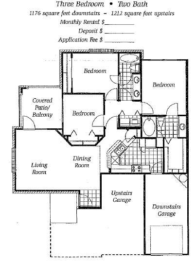 1,176 sq. ft. to 1,212 sq. ft. Mkt floor plan