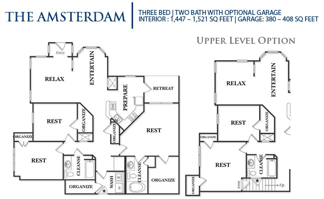1,521 sq. ft. C1U-Amsterdam floor plan