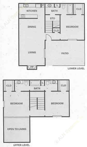 1,514 sq. ft. C2 floor plan