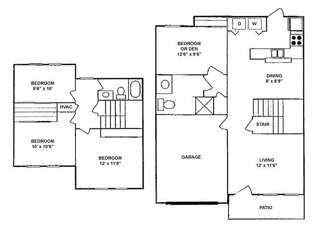 1,236 sq. ft. 60% floor plan