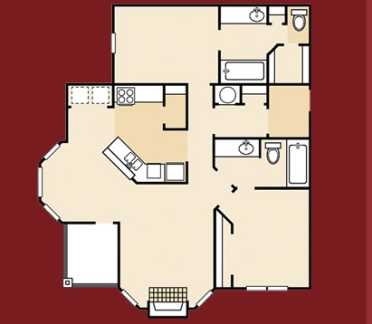 1,082 sq. ft. A10SQ floor plan