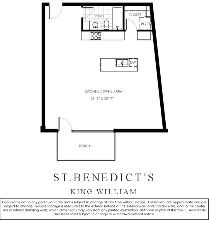 813 sq. ft. L/W floor plan