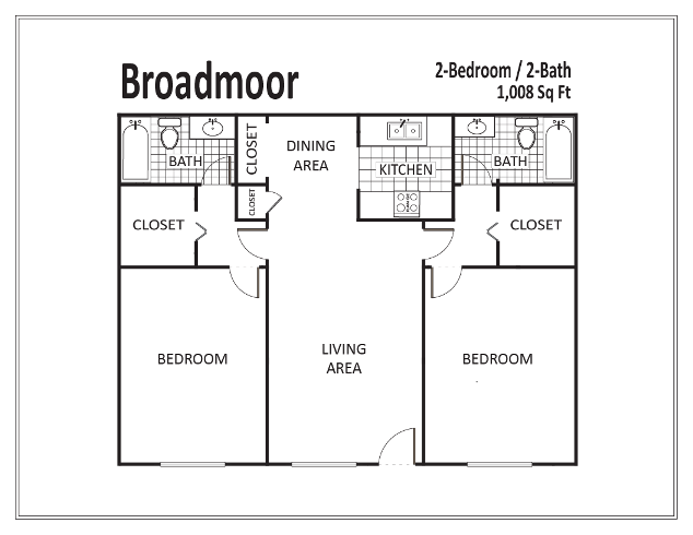 1,008 sq. ft. floor plan