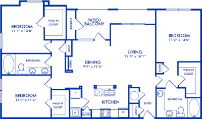 1,442 sq. ft. YALE floor plan