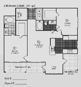 1,202 sq. ft. G floor plan