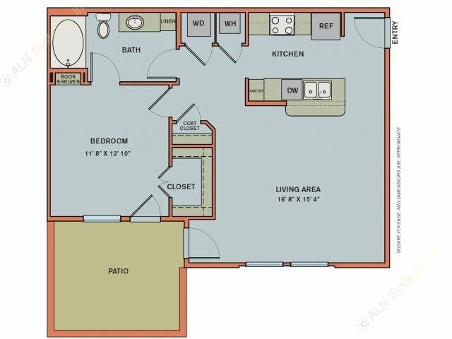 794 sq. ft. EA3.2 floor plan