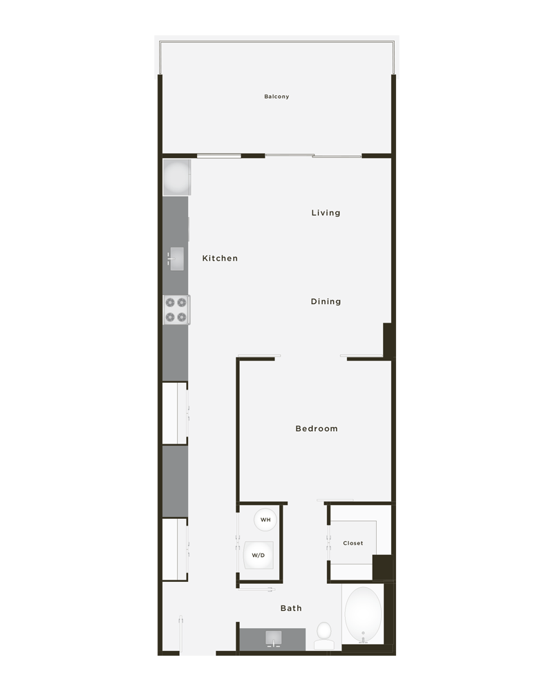 839 sq. ft. Halo floor plan