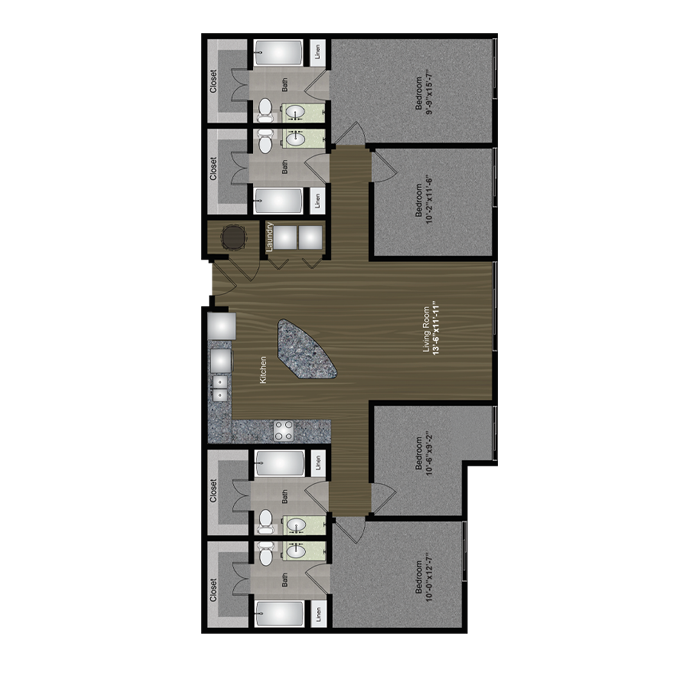 1,548 sq. ft. 360 floor plan
