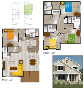 1,668 sq. ft. Bandera(Cottage) floor plan