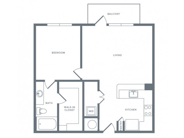 826 sq. ft. A8 floor plan
