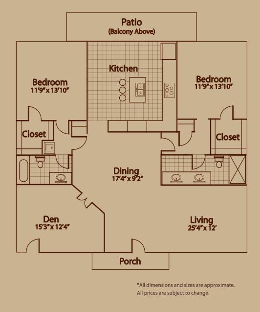 1,666 sq. ft. I floor plan