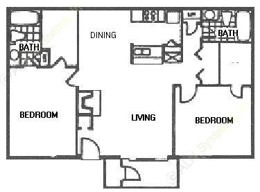952 sq. ft. E21 floor plan