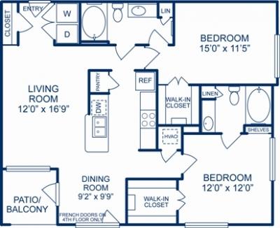 1,137 sq. ft. PHOENIX floor plan