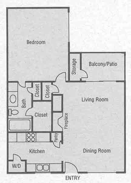 763 sq. ft. C1-C4 floor plan
