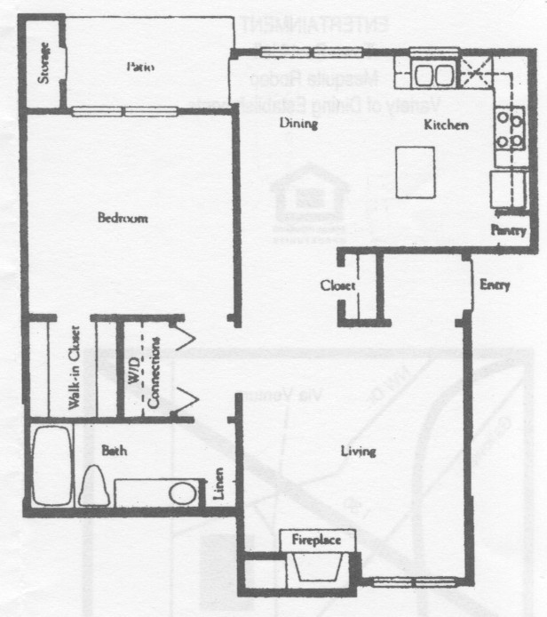 792 sq. ft. A4 floor plan