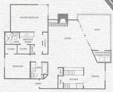 1,240 sq. ft. B3 floor plan