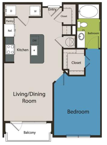 753 sq. ft. A1.1 floor plan