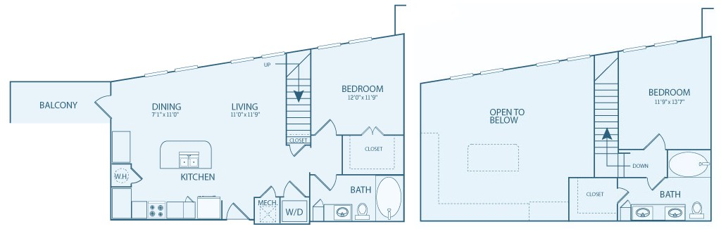 1,109 sq. ft. BL floor plan