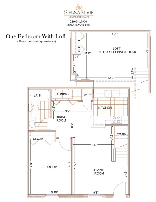 811 sq. ft. Carmen floor plan