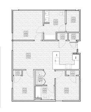 1,109 sq. ft. C1/60% floor plan
