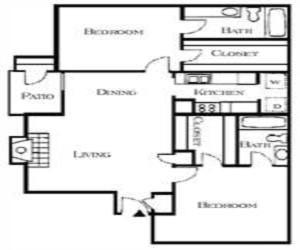 1,120 sq. ft. Harrington floor plan
