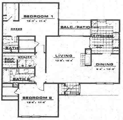 1,186 sq. ft. B1 floor plan