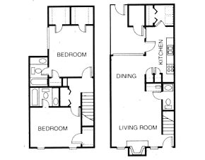 1,174 sq. ft. B4 floor plan