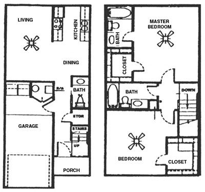 1,369 sq. ft. D floor plan
