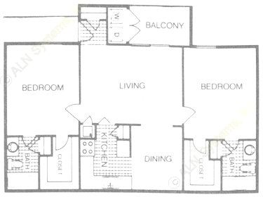 994 sq. ft. floor plan