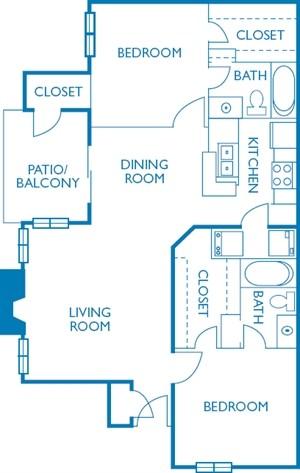 960 sq. ft. Driskill floor plan