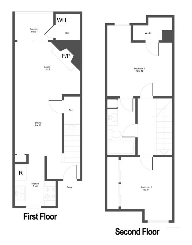 780 sq. ft. floor plan