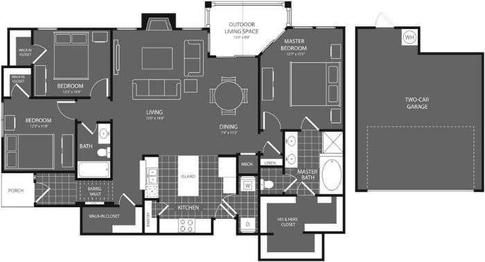1,586 sq. ft. Sycamore floor plan