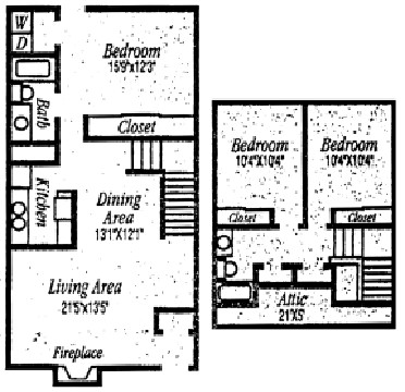 1,432 sq. ft. E floor plan