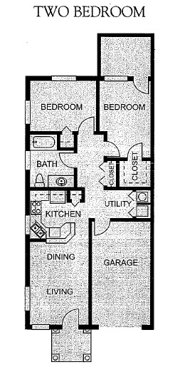 825 sq. ft. Mkt floor plan