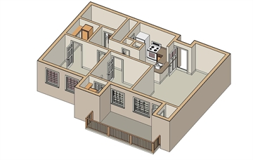 875 sq. ft. B1/60% floor plan