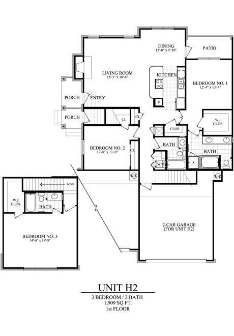 1,909 sq. ft. H2 floor plan