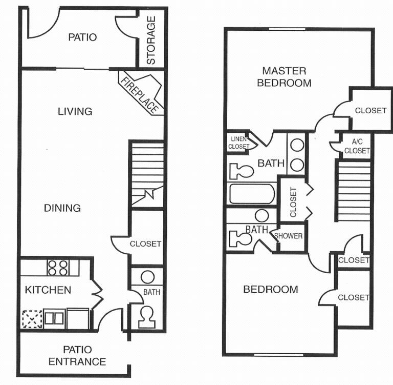 1,177 sq. ft. G floor plan