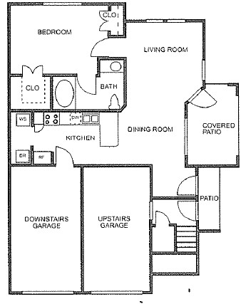 755 sq. ft. to 764 sq. ft. floor plan