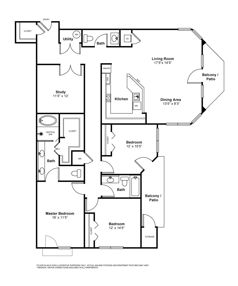 1,817 sq. ft. Lorient floor plan