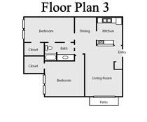 944 sq. ft. floor plan