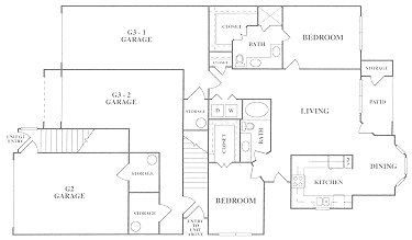 1,169 sq. ft. B4 floor plan
