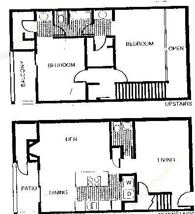 1,293 sq. ft. B3 floor plan